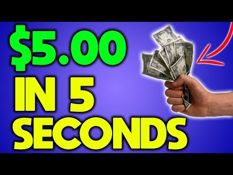 Get Paid $5 in 5 Seconds - How To Make Money Online FAST