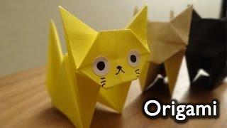 Origami Cat(neko)  / 折り紙 ねこ 折り方