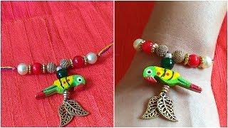 DIY Rakhi I How to Make Rakhi   Handmade Rakhi I Parrot Rakhi I Beautiful Rakhi I