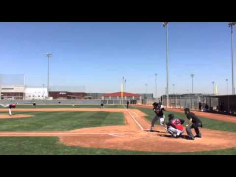 Michael Brantley's first spring at-bats