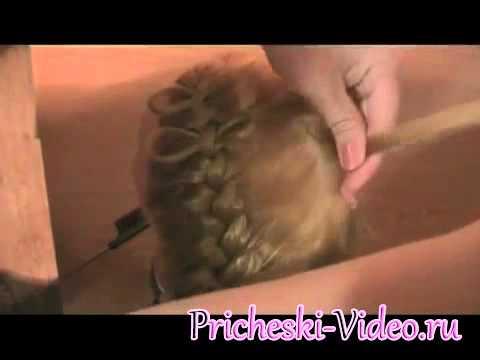 плетение косичек бантиком