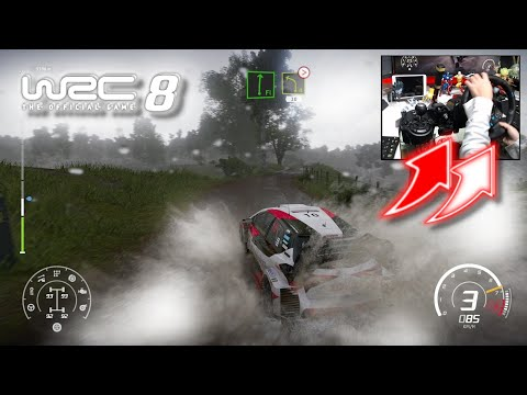 WRC 8 Toyota Yaris WRC Rainy Settings / Logitech G29
