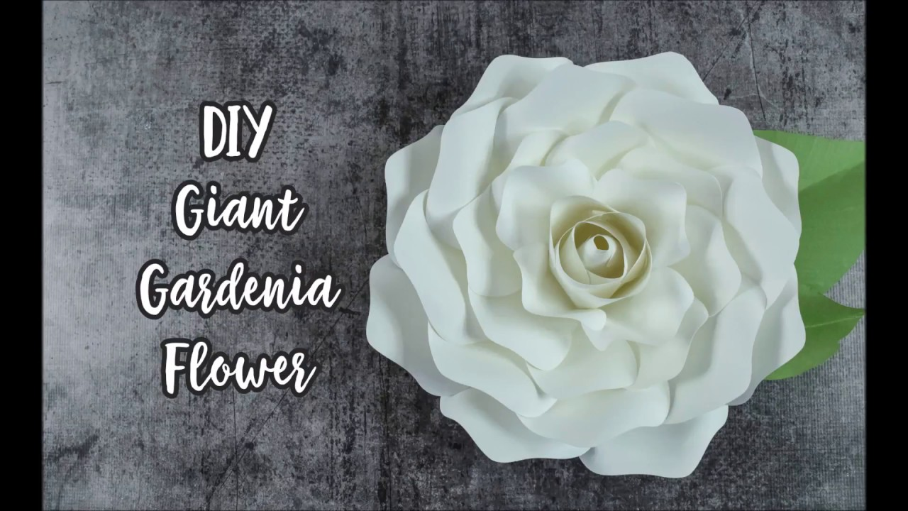 Step By Step Giant Gardenia Rose Paper Flower Tutorial Youtube