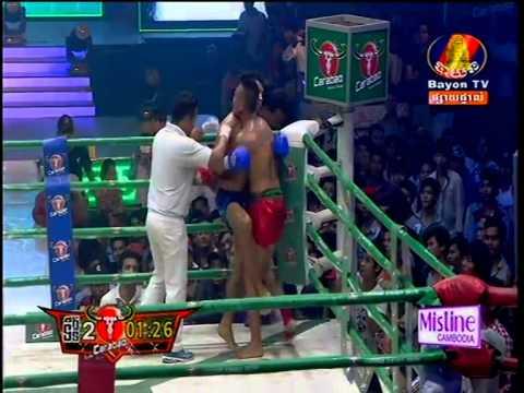 Khmer Boxing Vung Noy Vs Sung Hang Noy (Thai) at Bayon 22/Feb/2015