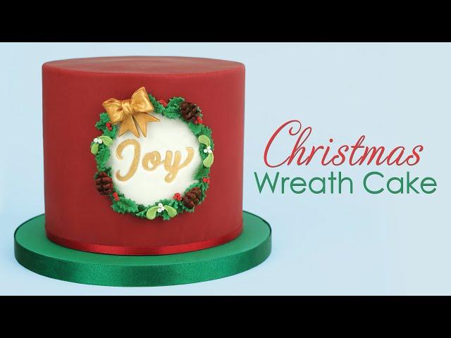 Festive Christmas Wreath Cake Decorating Tutorial