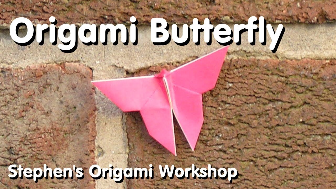 Origami butterfly tutorial how to fold instructions youtube origami butterfly tutorial how to fold instructions jeuxipadfo Image collections