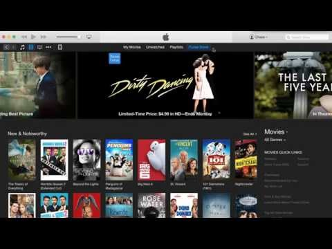 how do you rent a movie on itunes