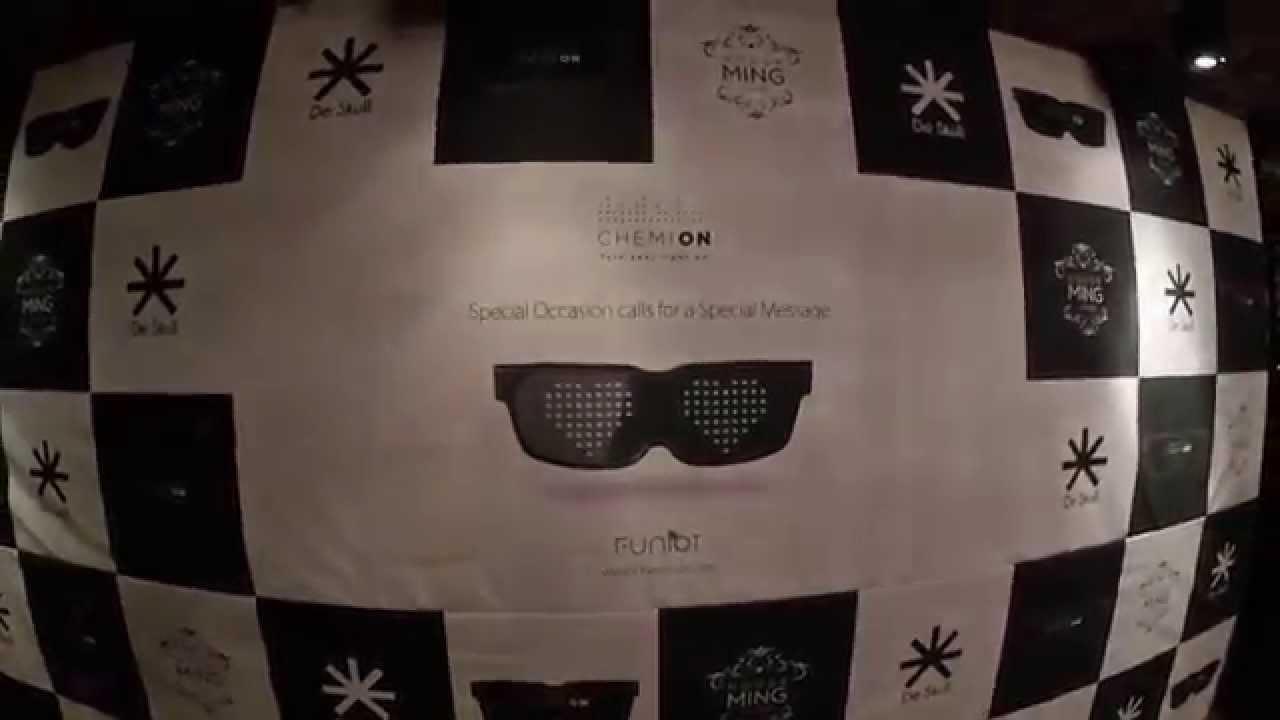 Chemion LED-Brille  LED Gadget programmierbar Festival Musik Raves Partybrille