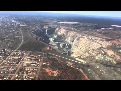 Kalgoorlie Superpit  Gold Mine From Plane