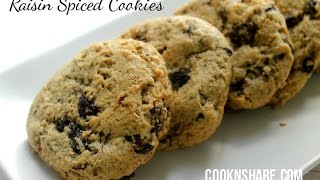 Raisin Spiced Cookies