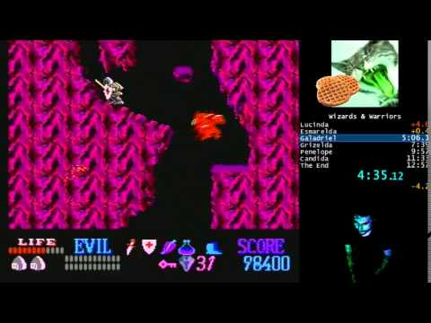 Wizards & Warriors (NES) speedrun 12:46 Any% [stream]