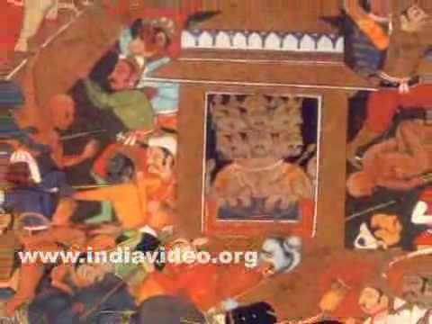 Rama besieging Lanka, painting from Yudhakanda, Ramayana