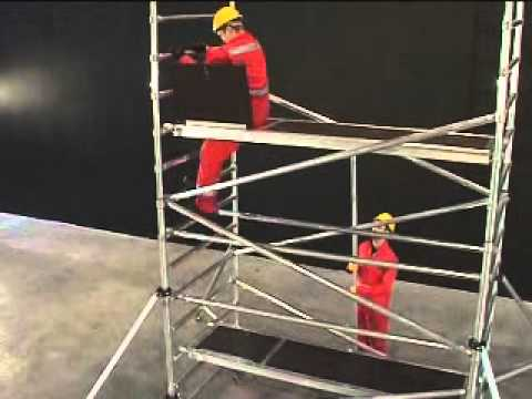 Installation Of A Scaffold Tower Instant Upright Zip Up