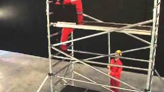Installation of a Scaffold Tower - INSTANT UPRIGHT ZIP UP www.instantupright.com