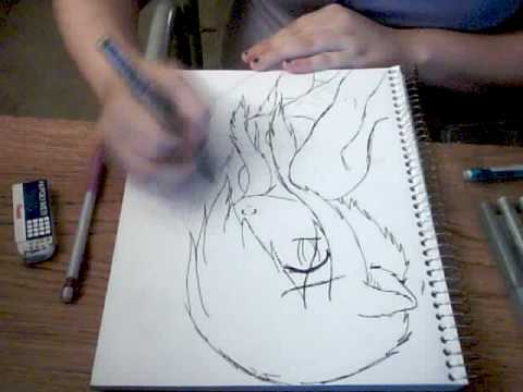 Wolf Girl Drawing Youtube
