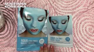 Корейская косметика альгинатная маска Lindsay c экстрактом чайного дерева маска для лица