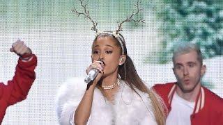 "Ariana Grande Falls During Jingle Ball ""Love Me Harder"" Performance"