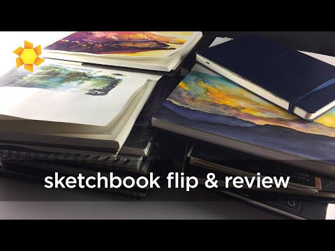 Watercolor Sketchbook Review and Flipthrough