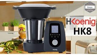 H.Koenig HK8 Robot Cuiseur Multifonctions 2L - 1000W - 10 vitesses - 120° -  Unboxing