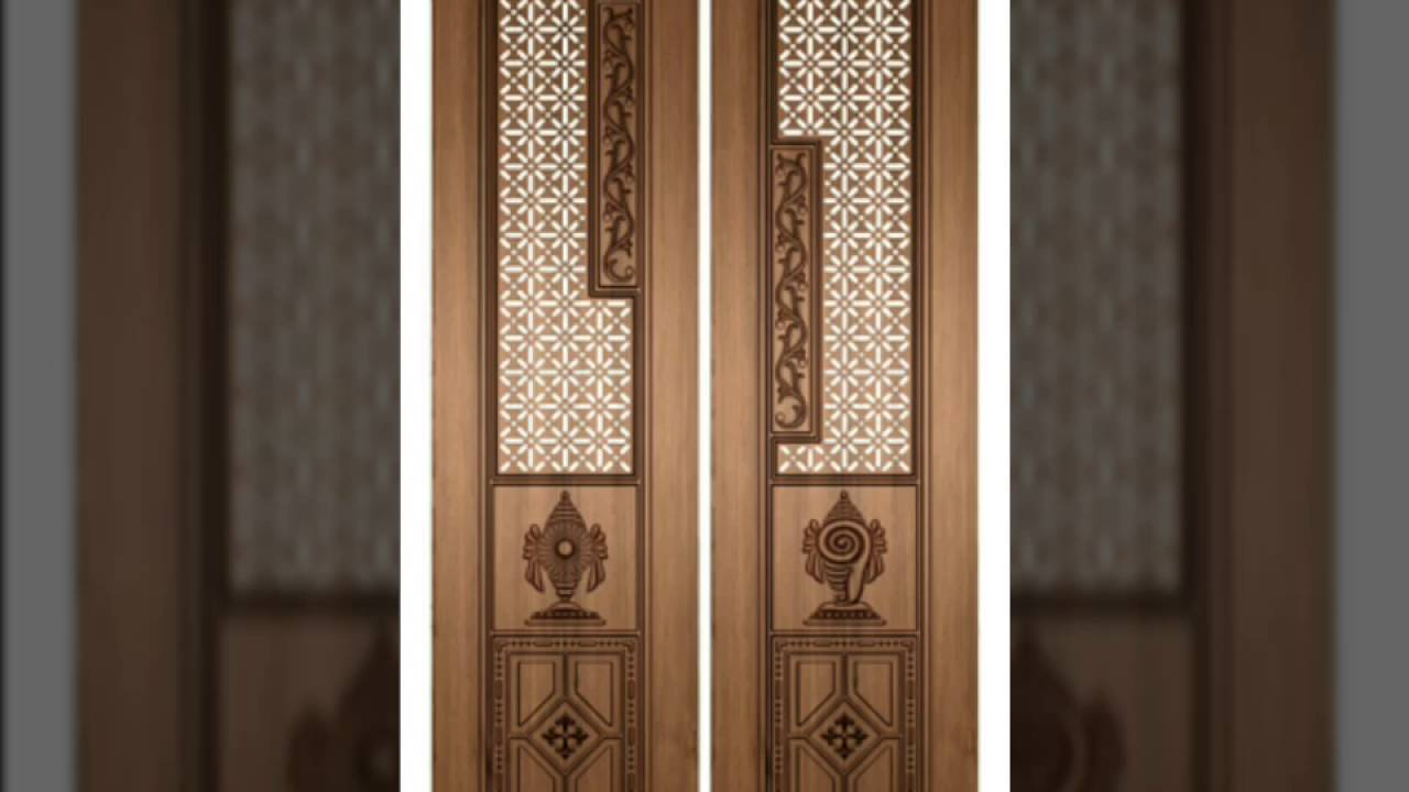 Pooja room door designs poja doors 50 home pooja room for Room door design for home