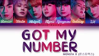 MONSTA X (몬스타엑스) - Got My Number (Color Coded Lyrics /Eng)