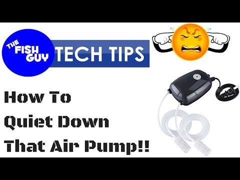 Aquarium Tech Tip #2  - Quiet Down That Noisy Air Pump!