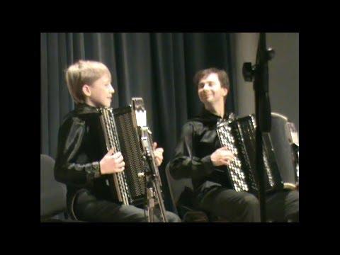 11-летний Денис Снигирев и другие артисты на концерте Игоря Завадского в Доме актера 21.01.2012