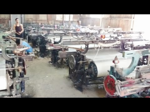 Textile Powerloom Factory Cloth Making Process In Malegaon Maharashtra India 2015 [HD VIDEO 1080p]