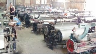 Textile Powerloom Factory Cloth Making Process In Malegaon Maharashtra India [HD VIDEO 1080p]