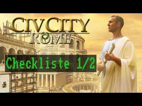 Checkliste: CivCity: Rom