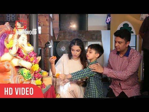 Bhushan Kumar With Wife Divya Khosla Kumar At Ganesh Aarti | T-series