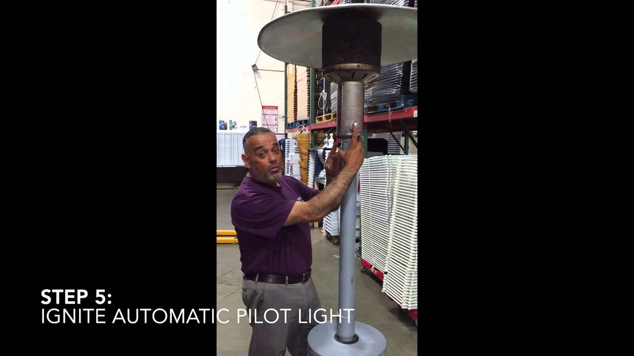 Patio Heater Lighting Instructions