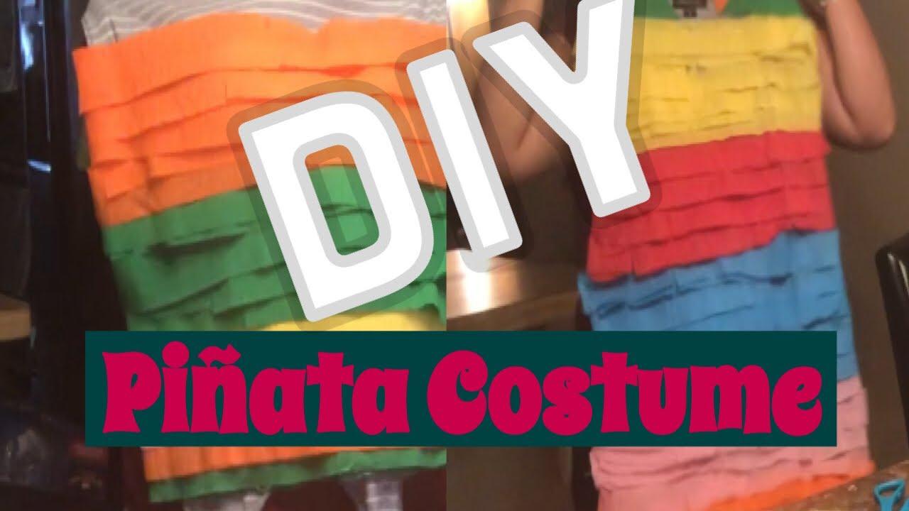 diy piñata costume || easy and cheap halloween costume || last