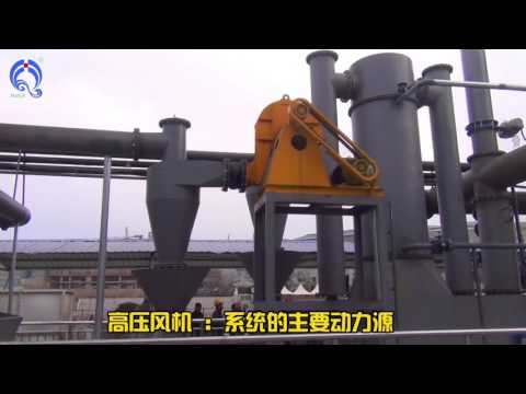 Wood pellet gasification furnace supply heating to hot water boiler, Biomass wood waste gasifier