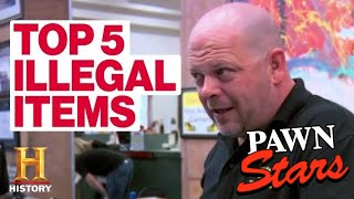 Pawn Stars: 5 SUPER RARE ILLEGAL ITEMS | History