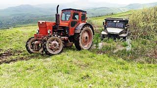 Урал Грузовик Застрял в грязи |  Трактор Т 40 сможет ли Выташшит  из грязи Урал | Гряземес по грязи