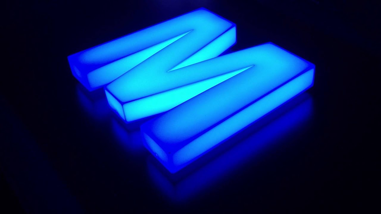 opal acrylic built up sign letter with internal rgb led