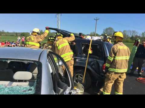 Fort Ann Central School District Students Participate in Mock Crash