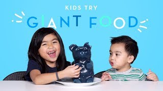 Kids Try Giant Food | Kids Try | HiHo Kids