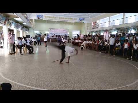 Tamilnadu Silambatta Kazhagam || Mass performance by a girl at state level Qualifiers round