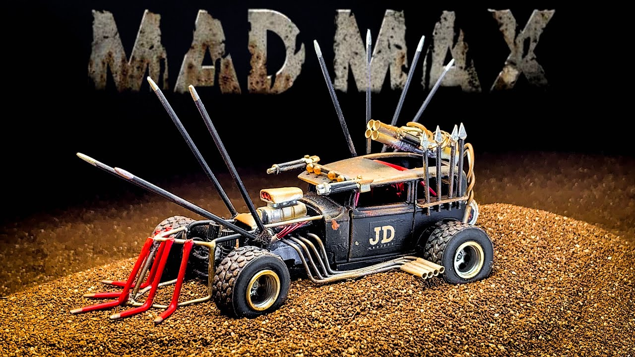 Mad Max Diecast Hot Rod with working double-wishbone part 2 hot wheels custom