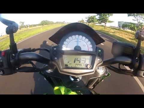 ER6n 2013 STANDARD @ 216Km/h - TOP SPEED