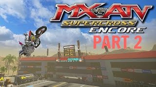 MX vs ATV Supercross Encore! - Gameplay/Walkthrough - Part 2 - Rhythm Straight Riding!