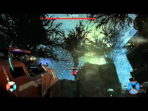 Evolve Assault Class Hyde Vs  The Monster on The New Map Distillery   Gamescom 2014