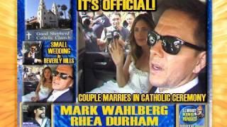 MARK WAHLBERG & RHEA DURHAM MARRIED!