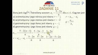 [Zadanie 11] Matura z matematyki poziom podstawowy. Maj 2018.
