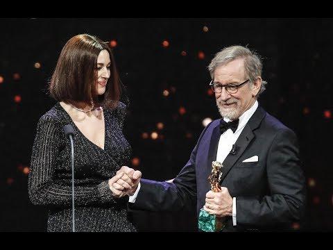 Steven Spielberg  and Monica Bellucci on the occasion of 'David di Donatello Award 2018
