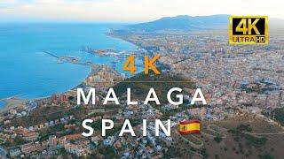 Malaga Spain 🇪🇸 4K Aerial Drone Tour