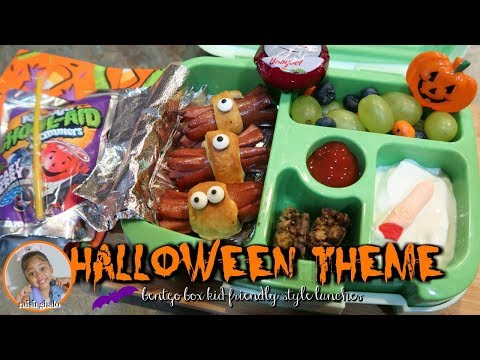 BENTGO BOX HALLOWEEN THEME LUNCH IDEAS | WEEK 10 | RAISINGHALO