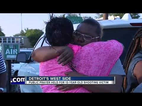 Public prayer held for 13-year-old shooting victim in Detroit